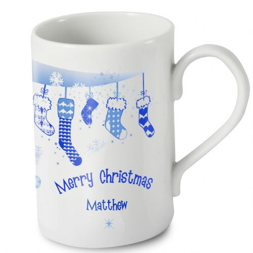 Personalised Christmas Stocking Windsor Mug